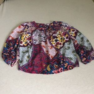 Silky beautiful blouse with vibrant colors